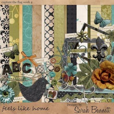 Feels Like Home full kit #freebie from Sarah Bennett #scrapbook #digiscrap #scrapbooking #digifree #scrap