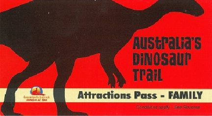 Australian Dinosaur Trail. Link to website with details, maps and itinerary.
