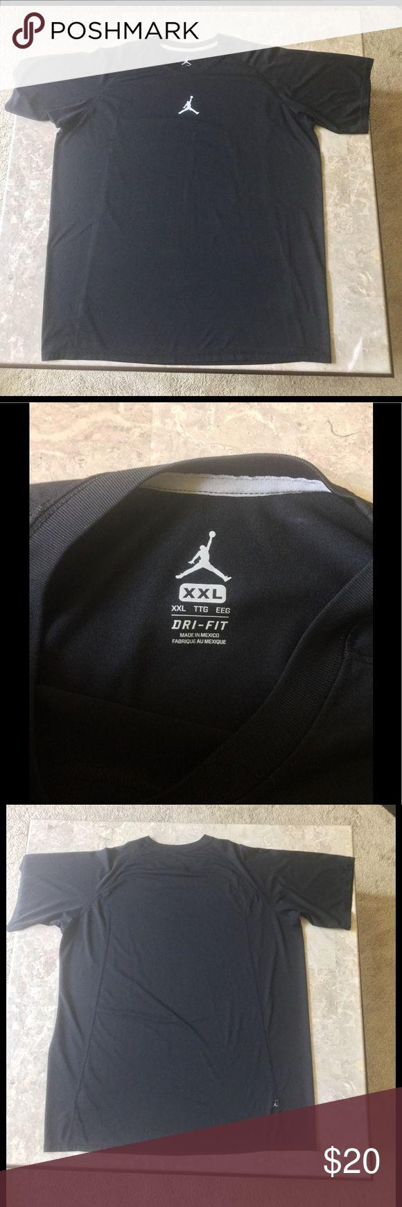 Michael Jordan T shirt, men's Jump man midnight black sport t, short sleeved, drip fit. Like new Jordan Shirts Tees - Short Sleeve