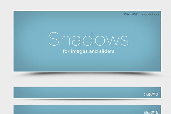 Shadows for web images and sliders - Web Elements - 1