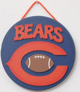 Chicago Bears Football Fan Cave man cave sports sign Chicago Bears Football decor Chicago Bears kids room sign sports sign football fans by UCsportsbyBill on Etsy