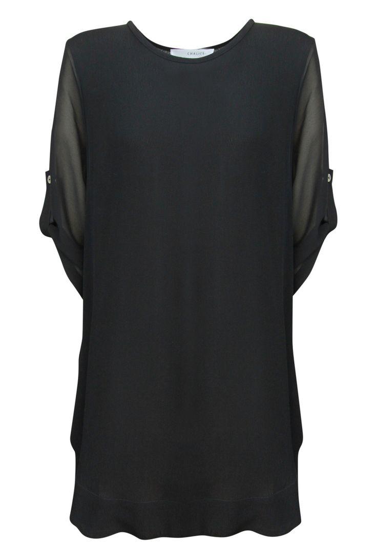 Chalice - Silk Tab Sleeve Long Tunic