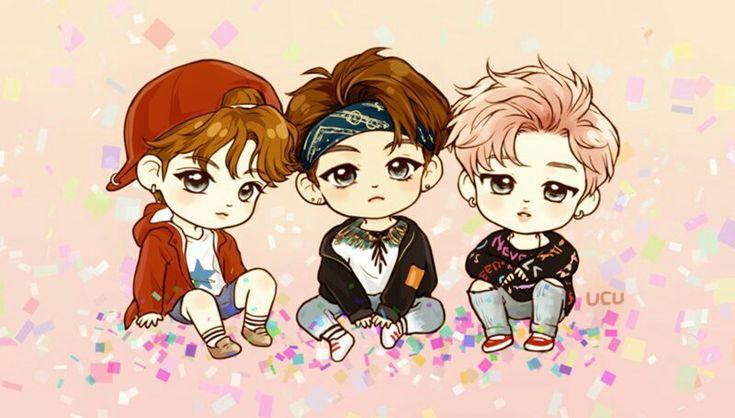 FanArt - BTS: JungKook, V e Jimin (maknae line) em You Never Walk Alone por @bts_ucu no Twitter