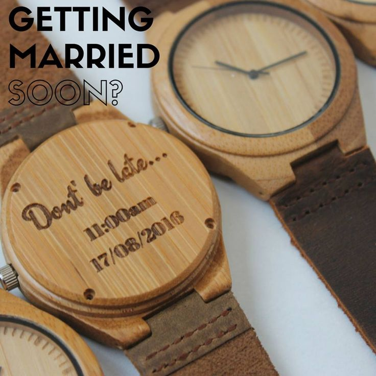 Getting married soon? Personalise our wooden watches with your wedding date and time so your future partner definitely makes it there on time! ==>> https://chiseltree.co.uk/products/wedding-date-wooden-watch Worldwide delivery in 7 days or less!