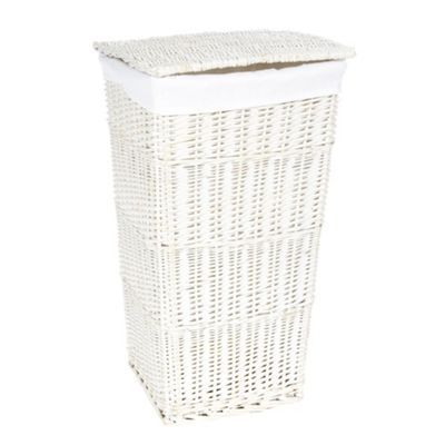 17 best images about white wicker laundry basket on White wicker washing basket