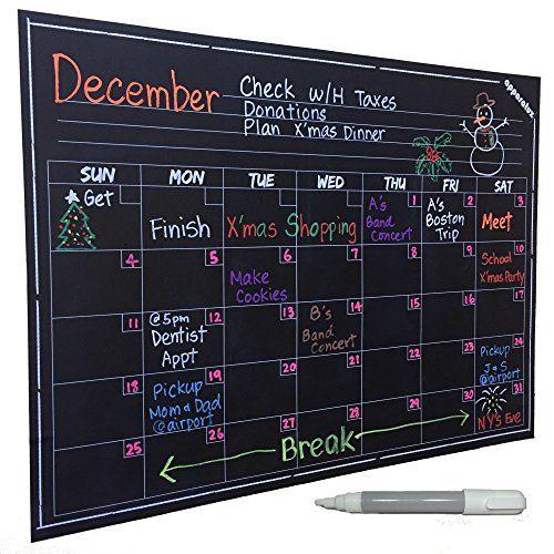 Chalkboard Calendar Canada : Best images about organization on pinterest storage
