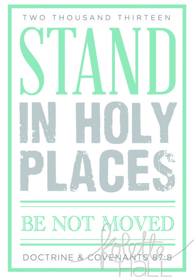 Stand In Holy Places Poster | church related | Pinterest