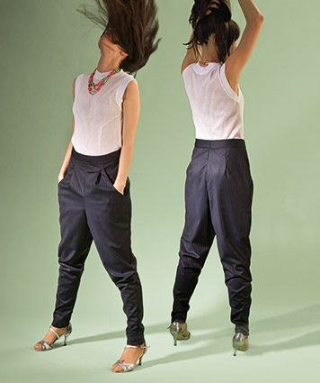 Sewing pattern pants