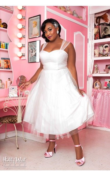 Pinup Girl Clothing- Garden State Dress in Ivory White by Unique ...