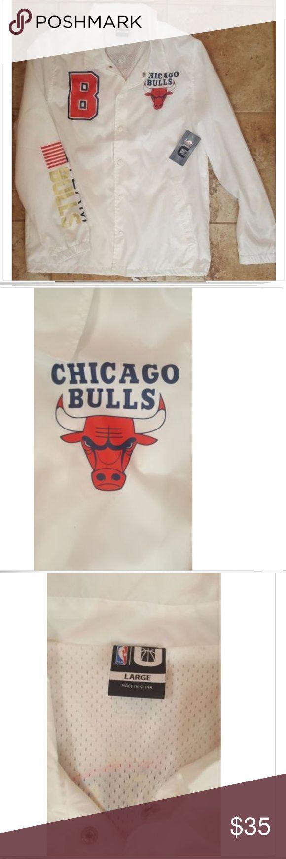 NWT Chicago Bulls NBA Windbreaker Large NWT Chicago Bulls NBA Windbreaker America's Team Size Large. New with Tags Men's Size Large NBA Chicago Bulls Windbreaker. One small mark on the back of the jacket - see pic. NBA Jackets & Coats Windbreakers