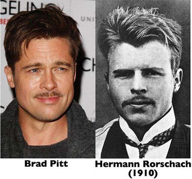 Hermann Rorschach Reincarnated as Brad Pitt