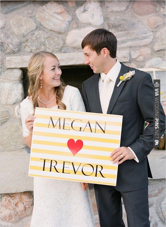 wedding sign | VIA #WEDDINGPINS.NET