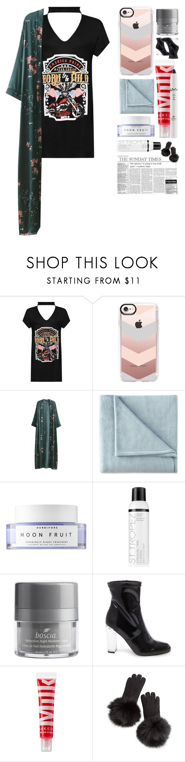 """I got issues"" by aline-sofia ❤ liked on Polyvore featuring WearAll, Casetify, WithChic, JCPenney Home, Herbivore, St. Tropez, Boscia, Steve Madden, MILK MAKEUP and Overland Sheepskin Co."