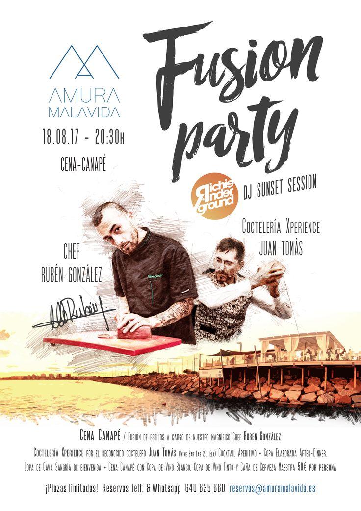 Poster / Fusion Party at Amura-Malavida Torrevieja