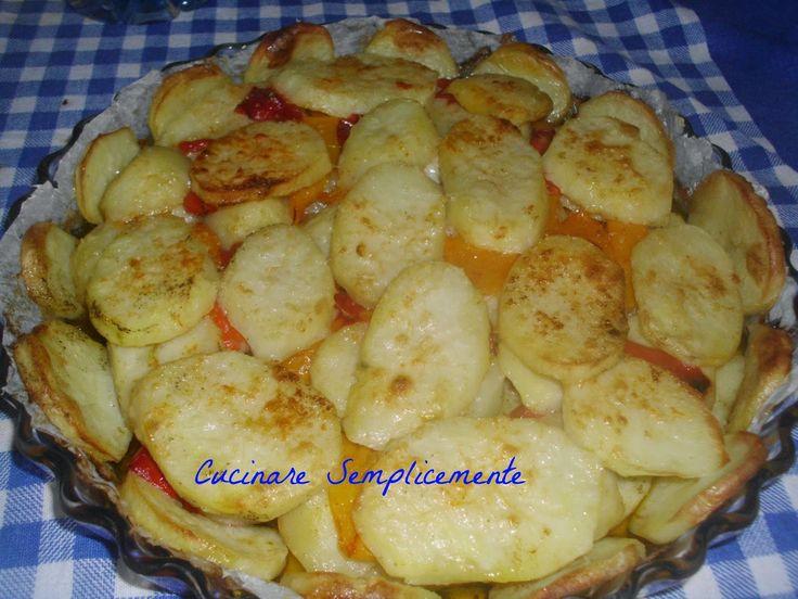 cucinare semplicemente: Patate e peperoni a forno