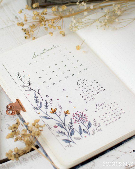 Full September 2018 & BLANK Setup | Printable for Journal or Planner