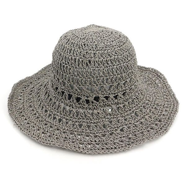Women Outdoor Folding Hollow Out Bucket Hat at Banggood