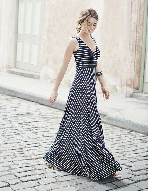 Full Skirt Maxi Dress WW073 Smart Day Dresses at Boden