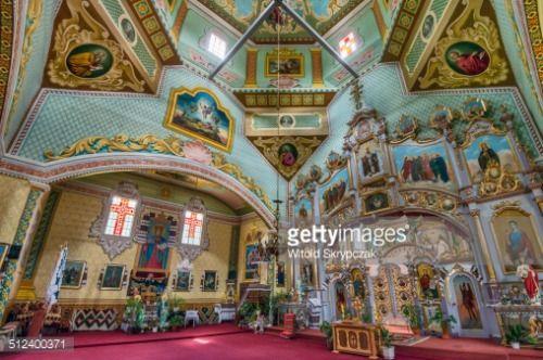 Interior of Holy Trinity Greek Catholic Church in village of... #mykulychyn: Interior of Holy Trinity Greek Catholic Church in… #mykulychyn