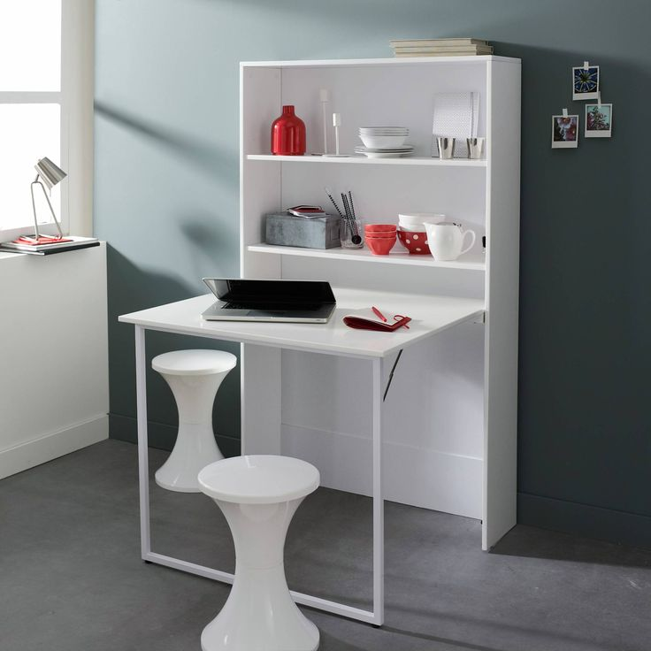 meuble avec table bureau escamotable with table rabattable design