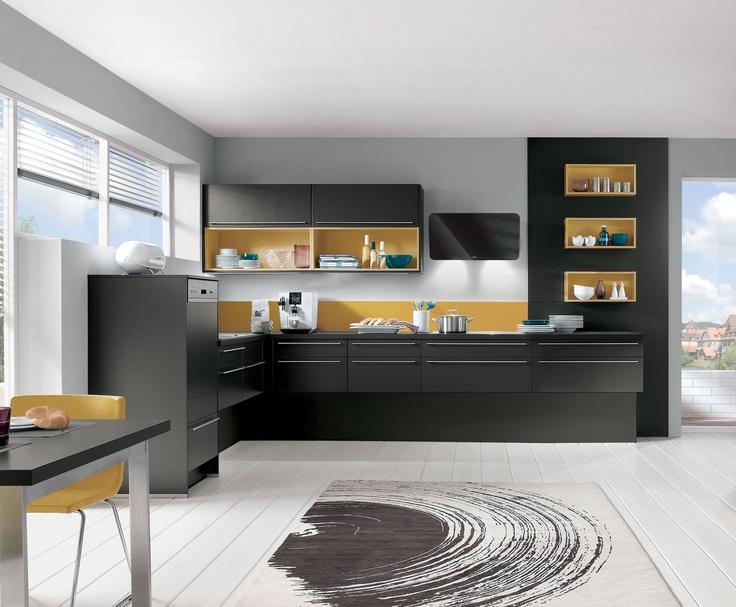 cuisine quip e aviva diana terra noir et niches curry 4 690 avec le pack beko 699. Black Bedroom Furniture Sets. Home Design Ideas