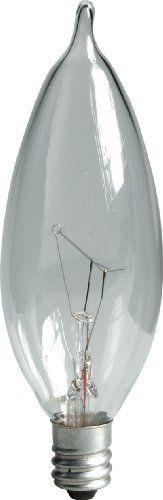 GE Lighting Crystal Clear 76239 60-Watt, 650-Lumen Inclination Tip Light Bulb with Candelabra Base, 16-Pack