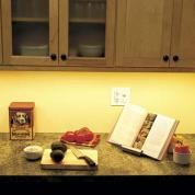 How to do it: Brighten countertops instantly with battery-powered LED undercabinet puck lighting.Estimated cost: Four adhesive-backed Bell & Howell Mini Power Pods, about $20; The Survival Store