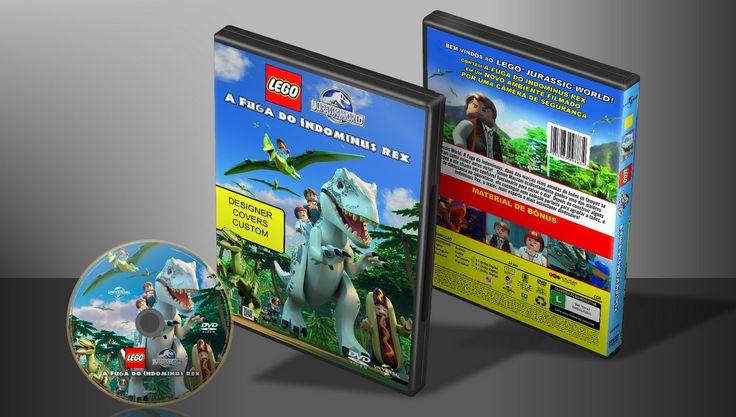 Lego Jurassic World - A Fuga Do Indominous Rex - Capa   VITRINE - Galeria De Capas - Designer Covers Custom   Capas & Labels Customizados