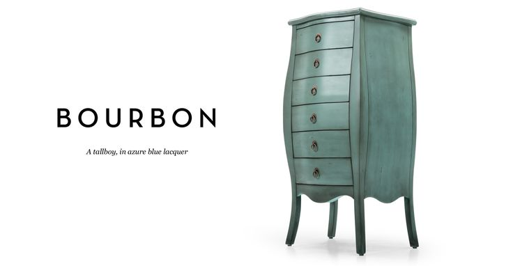 Best Bourbon Tallboy Chest Of Drawers In Azure Blue Made Com 400 x 300