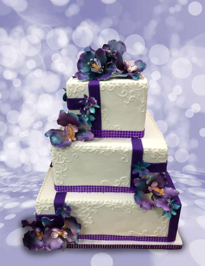 Beautiful Squares by MsTreatz - http://cakesdecor.com/cakes/252224-beautiful-squares