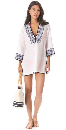 Tory Burch Pearl Tunic Cover Up   SHOPBOP