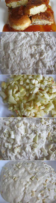 Постные оладьи с яблоками, рецепт пошаговый