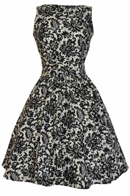 Glamorous Black Lace Tea Dress : Lady Vintage