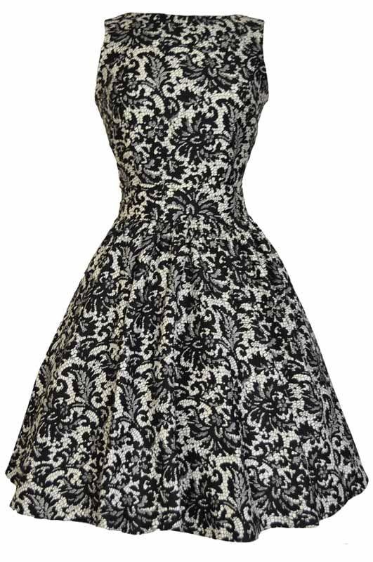 Černé Retro Šaty Blanka Straka Lady V London