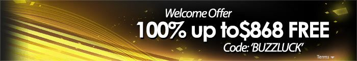 BuzzLuck Online Slots and Casino 100% Match Welcome Bonus up to $868