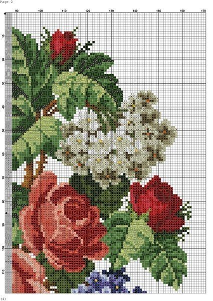 Beautiful embroidery with flowers III