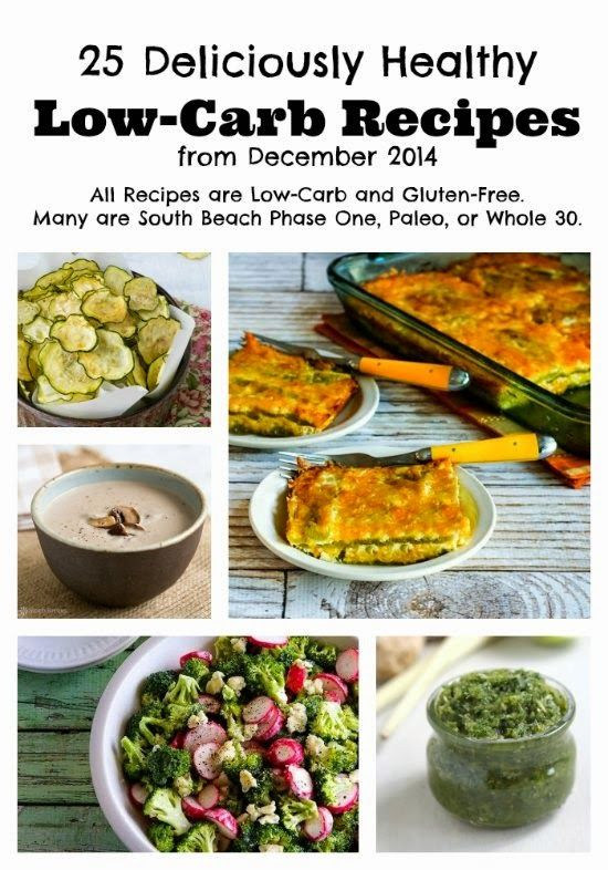 25 Deliciously Healthy Low-Carb Recipes from December 2014 (Gluten-Free, SBD, Paleo, Whole 30) [from KalynsKitchen.com] #DeliciouslyHealthyLowCarb