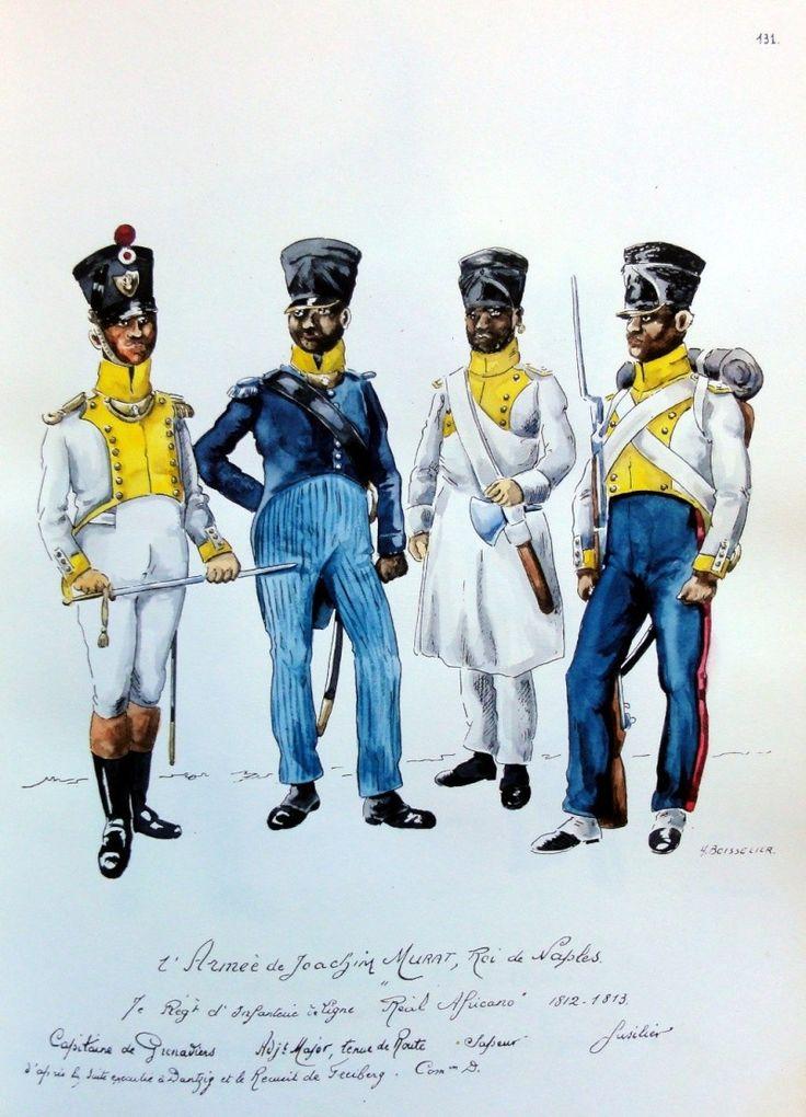 """7ème Régiment d'infanterie """"Real Afrique"""" - Royaume de Naples"""