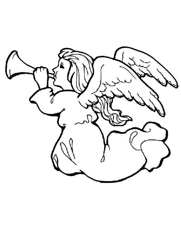 Gabriel Trumpet Coloring Pages