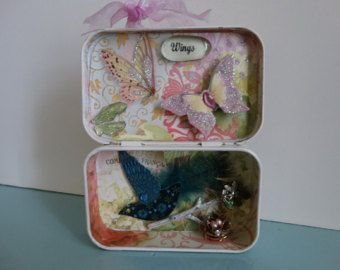 Altered altoid tin shadow box handmade one of a by DropsofElegance