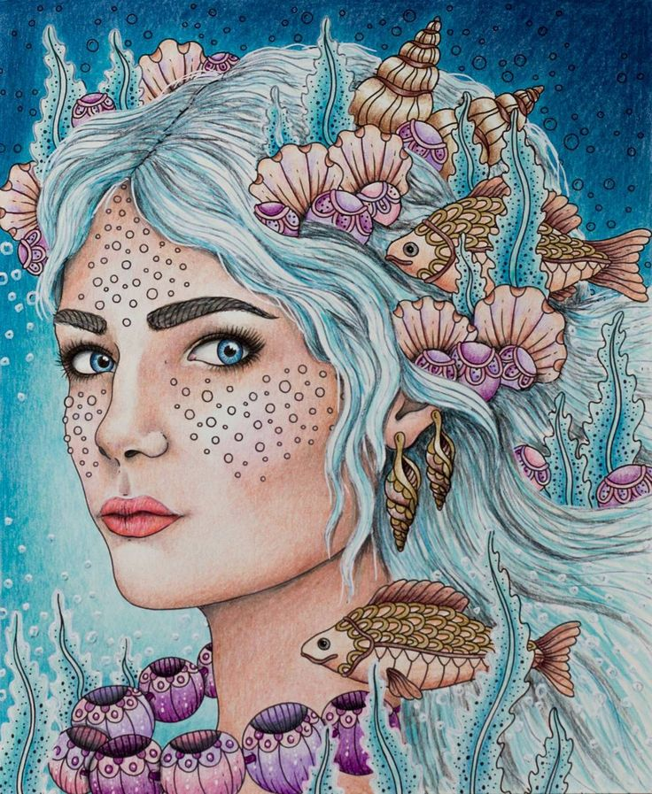 Done ☺ I really enjoyed this picture 😊 #magiskgryning #magicaldawn #hannakarlzon #coloring #coloringbook #adultcoloringbook #adultcoloring #pencils #fabercastell #polychromos #prismacolor #prismacolorpremier #drawing #skin
