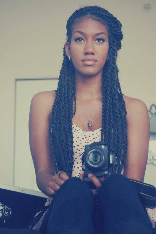Havana Twist hairstyles for long hair . Such a cool picture! She is really pretty.