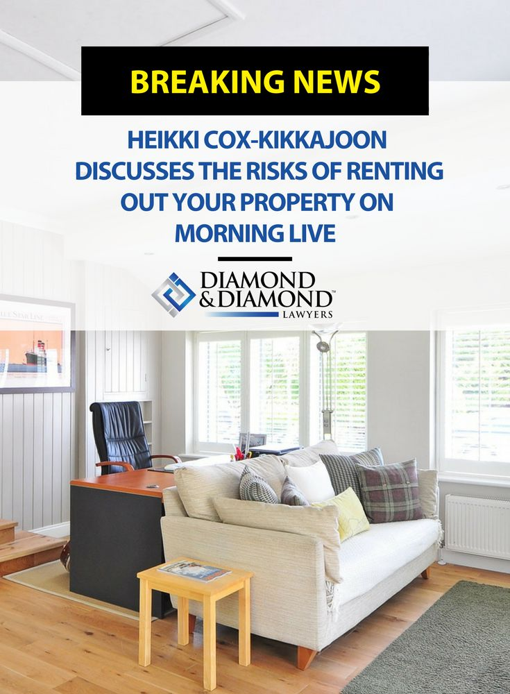 Thinking of renting out your home or cottage soon? Heikki Cox-Kikkajoon made an appearance on Morning Live to discuss the risks of renting out your property. Watch Heikki's full interview by clicking through here.