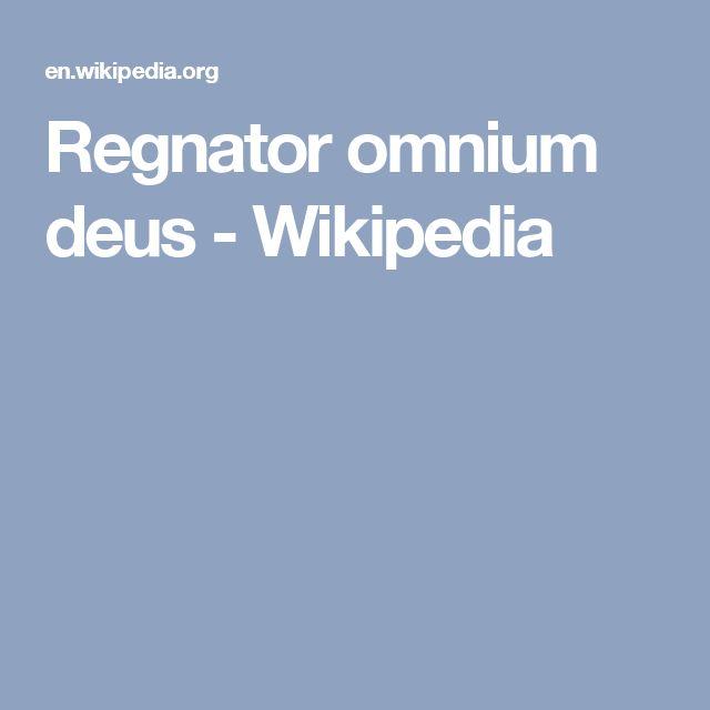 Regnator omnium deus - Wikipedia