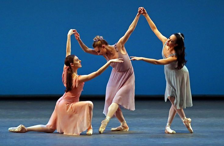Tiler Peck, Sara Mearns and Brittany Pollack of New York City Ballet in 2014 in Dances at a Gathering