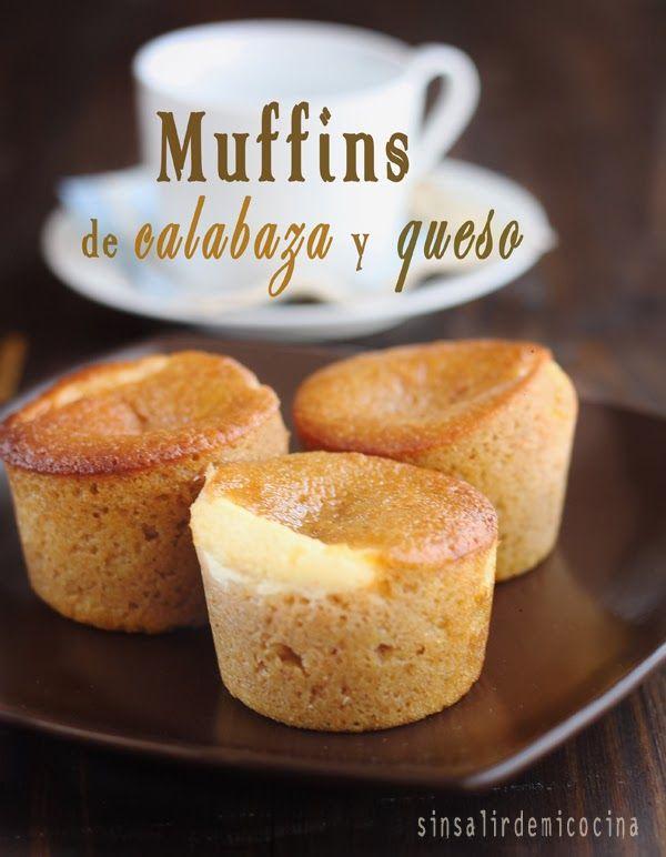 Muffins de calabaza y queso: Mezclar 1t harina con 1 pizca sal y 3/4 cuchi royal. Aparte unir 3/4t puré de calabaza, 1/4t aceite, 3/4t azúcar, 2 huevos, 1cuchi canela y 1/4cuchi nuez moscada y batir con varillas eléctricas. Añadir la mezcla de harina con una espátula. Aparte mezclar 230g queso phil, 1 yema y 3cuch azúcar. Poner 1cuch de batido, 1cuch de crema y otra de batido. Hornear 15-18'. X