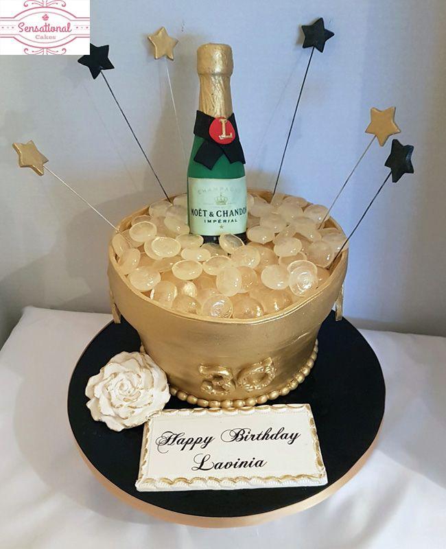 Pretty Design Champagne Birthday Cake 30th Ice Bucket Sensational Cakes