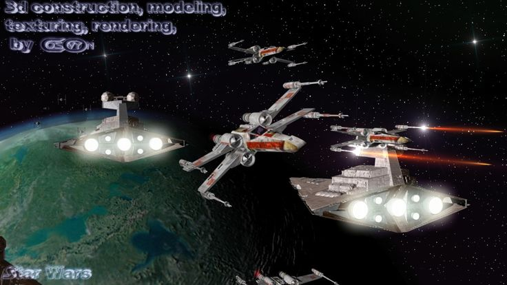 4_Star Wars_Star Destroyers & X-Wings Attack.