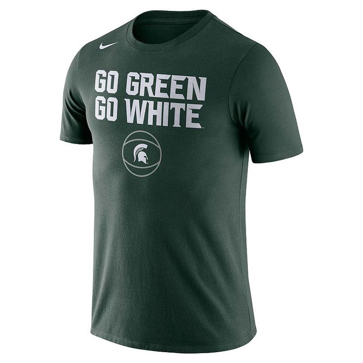 Men's Nike Michigan State Spartans Basketball Local Tee, Green