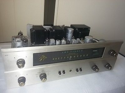 FISHER-400-stereo-tube-receiver-FM-amplifier-Upgraded-Tubes-Restored-Recapped